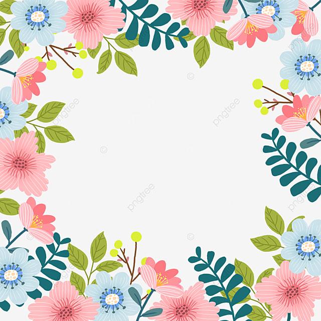 spring flowers floral blooming border