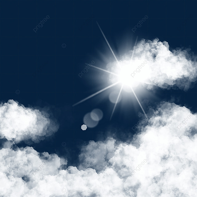 sun light effect clouds border