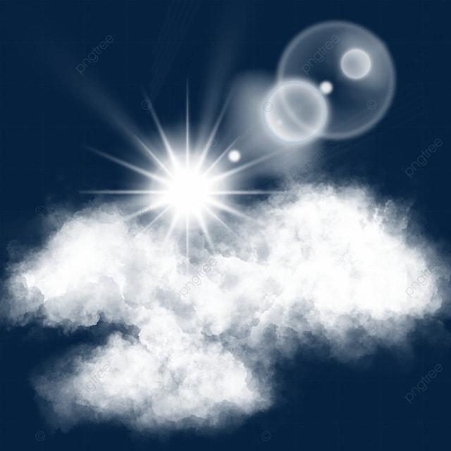 sunny white cloud sun light effect