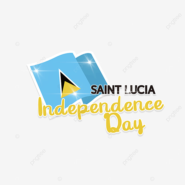 the flag shines on saint lucias independence day