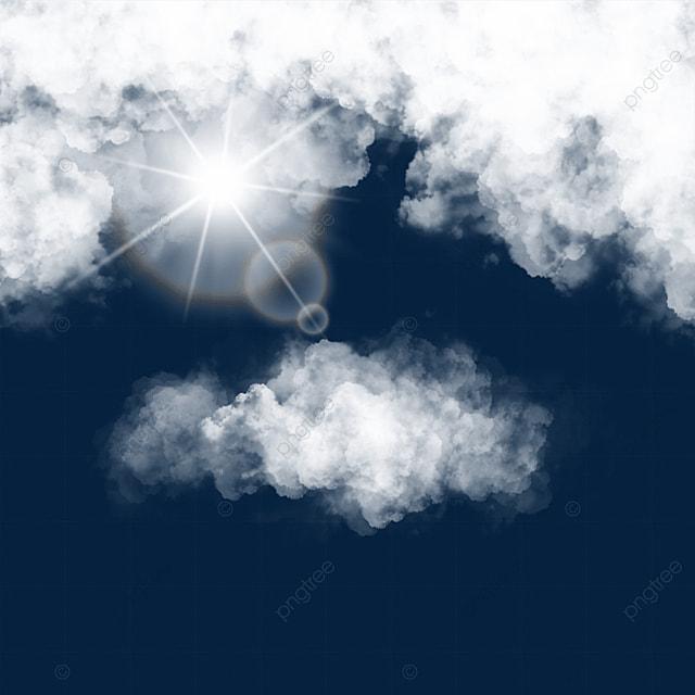 white cloud blue sky sun spot