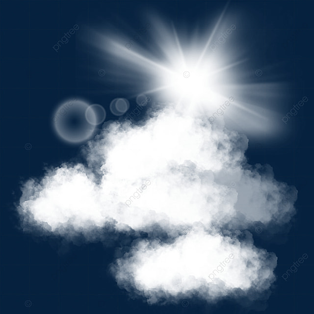 white cloud decoration sun spot