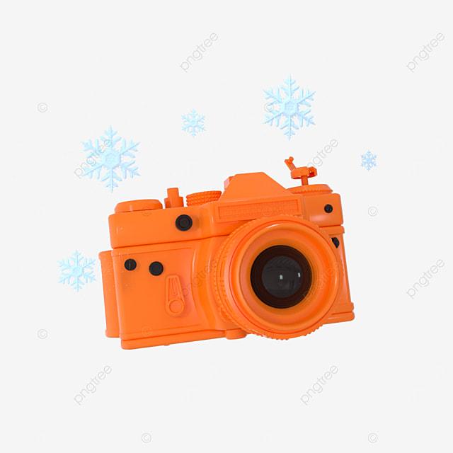 3d camera cute orange