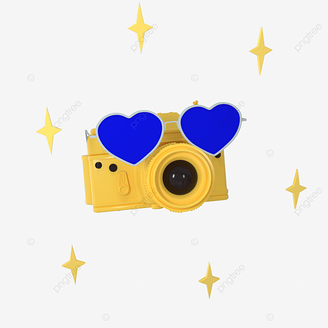 3d camera cute yellow