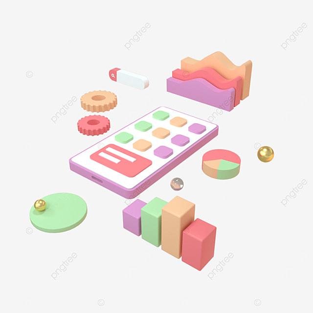 3d rendering of application development concept