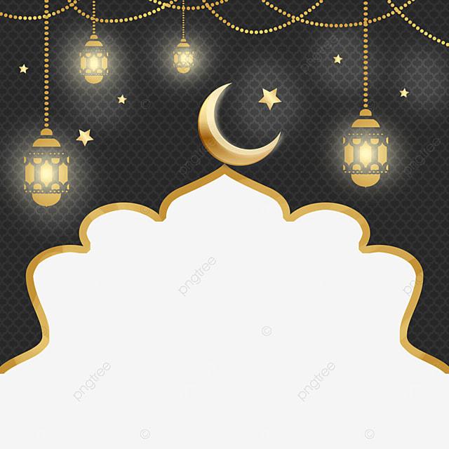 architectural shape pattern golden glowing eid mubarak exquisite border