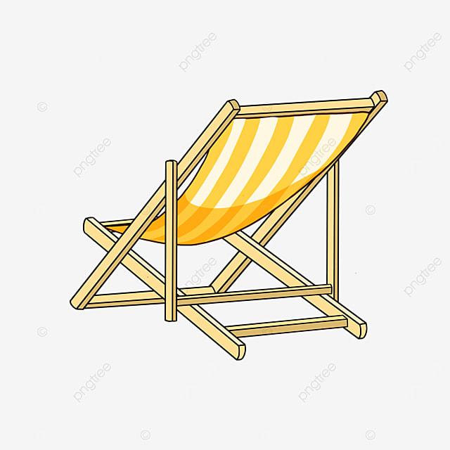 beach chair by the sea clipart