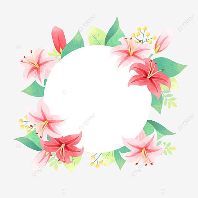 beautiful elegant lily flower wedding border