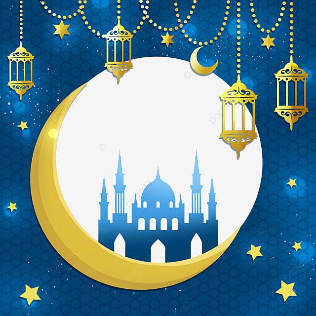 beautiful pendant decoration eid mubarak exquisite border