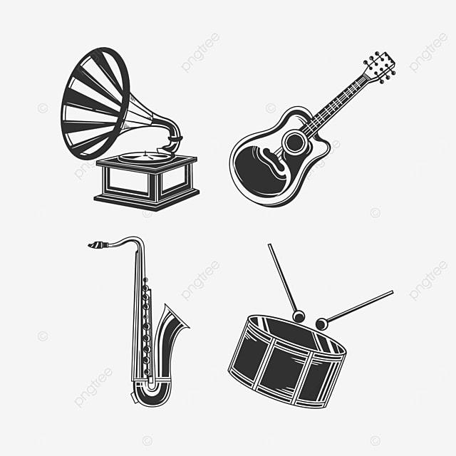 black musical instrument equipment