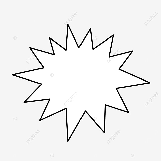 blank starburst clip art