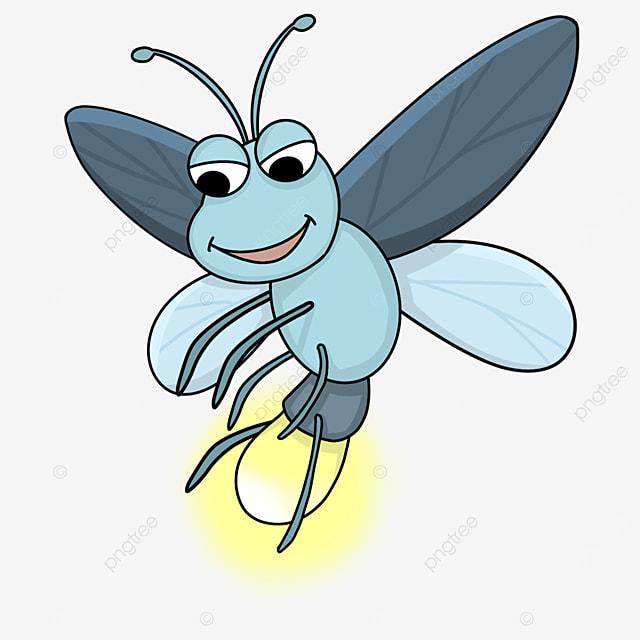 blue firefly clip art
