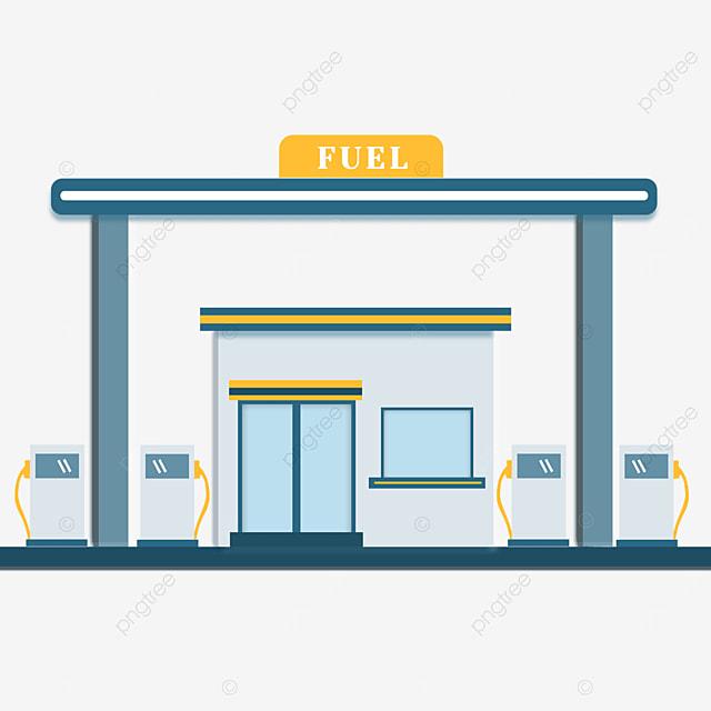 blue gas station clip art