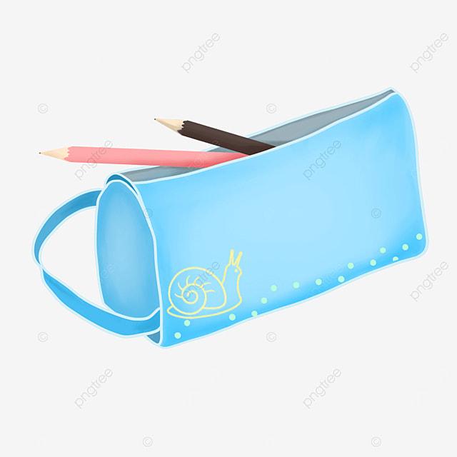 blue pencil case pencil case clipart