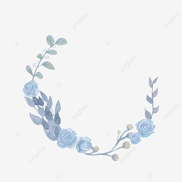 blue round wedding rose border