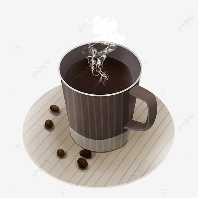 brown cup steam smoke coffee
