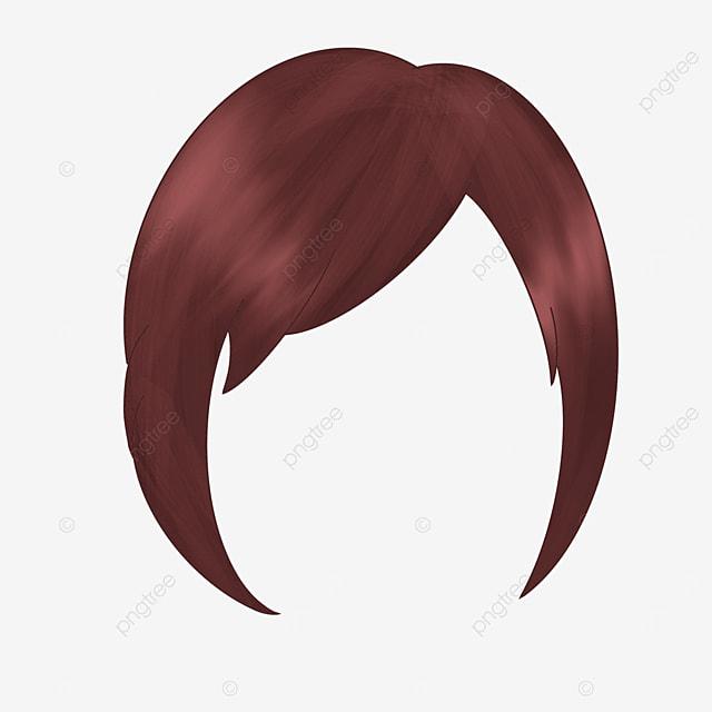 brown work hairstyle wig clip art