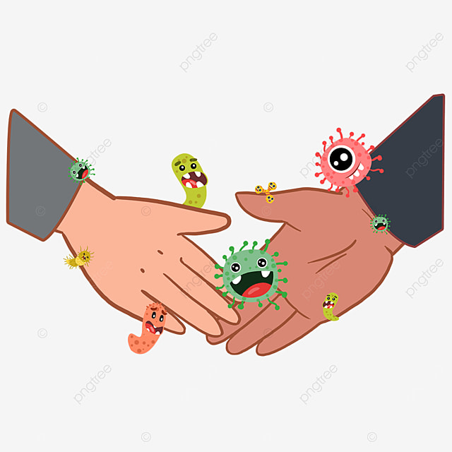 business holding hands with the new coronavirus
