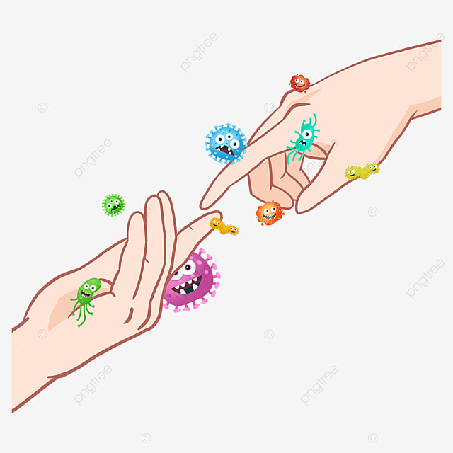 business new coronavirus gesture