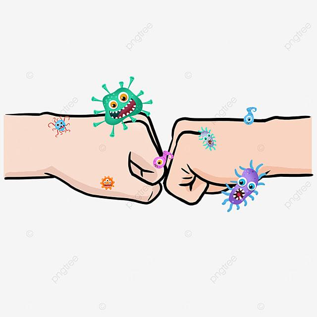 business punch new coronavirus gesture