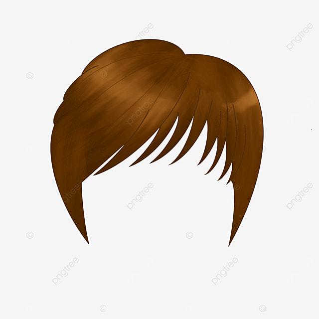 capable short hair lady wig clip art