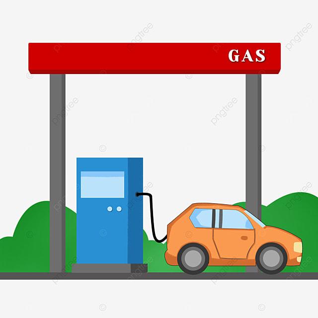 car gas station clipart