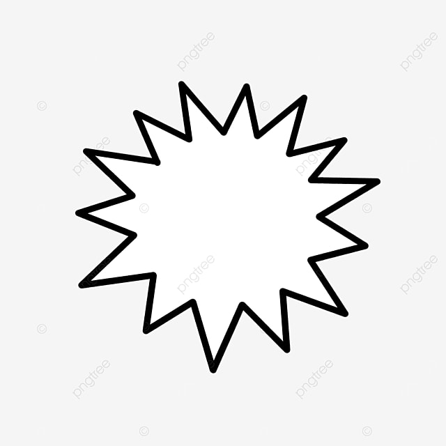 cartoon bursting starburst clipart
