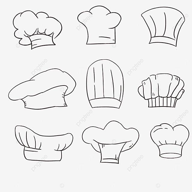 cartoon chef hat combination clipart
