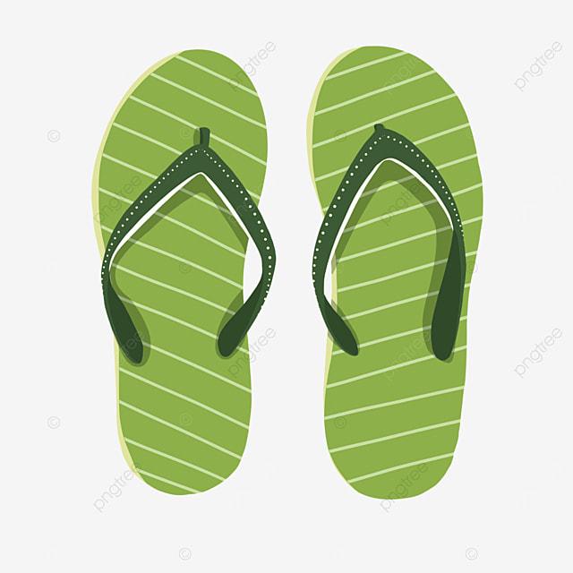 cartoon green sandals clipart