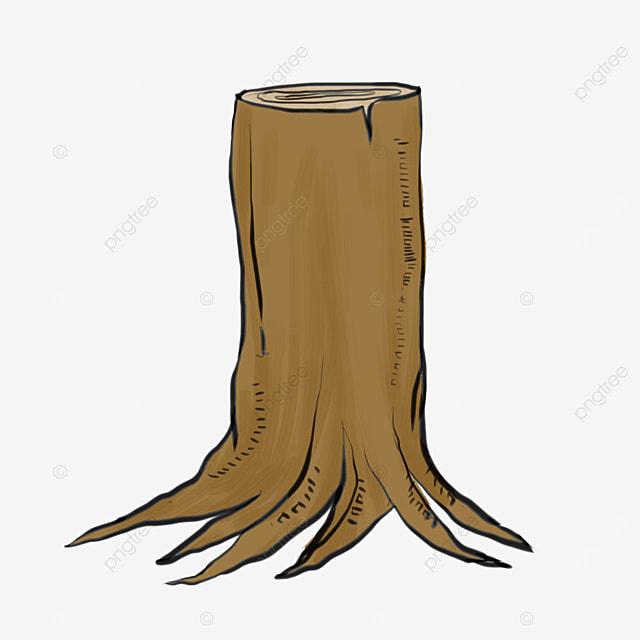 cartoon lineart tree root clipart