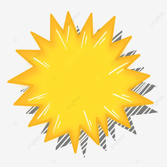 cartoon style yellow starburst clipart
