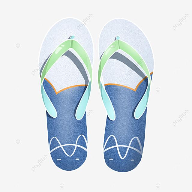 cat blue white cool flip flops clipart