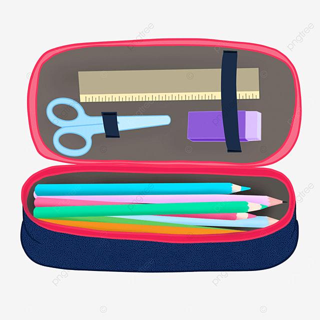 children pencil case clipart