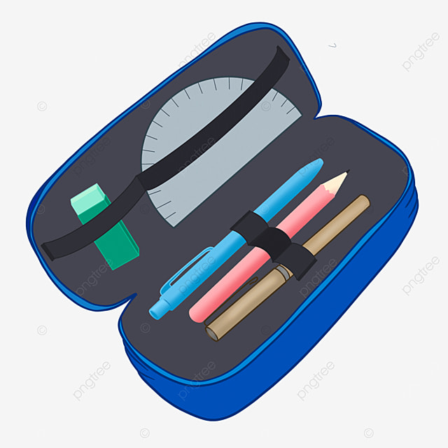 children student pencil case clipart