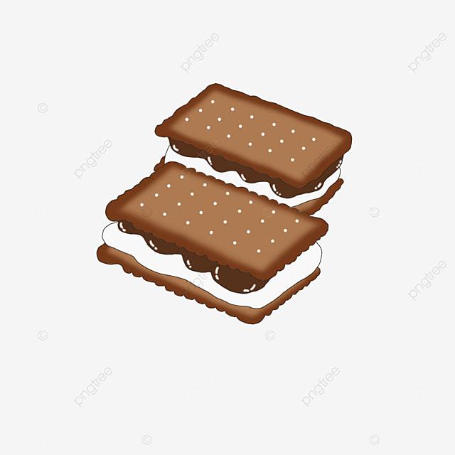 chocolate graham cookies clip art