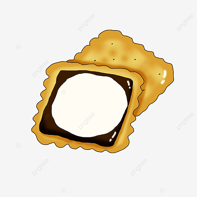 chocolate sandwich graham cookies clip art
