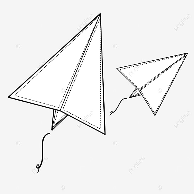 closed paper airplane clipart