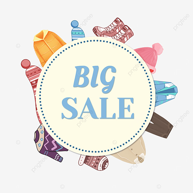 clothes big price reduction promotion border