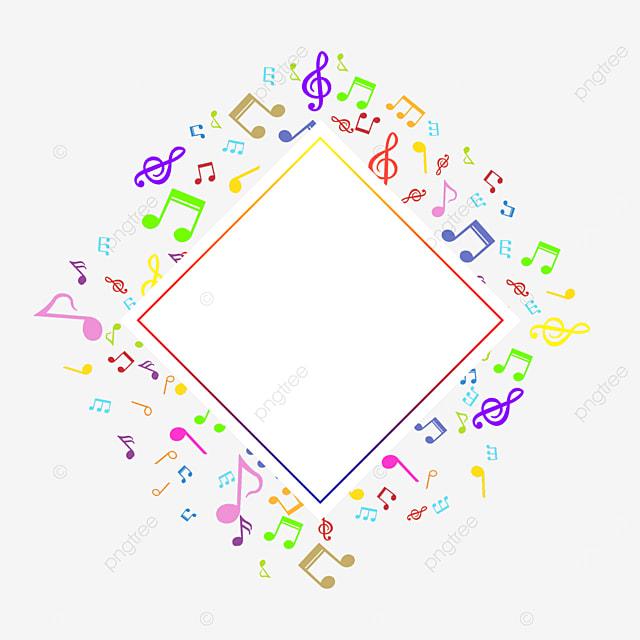 color gradient creative music note border