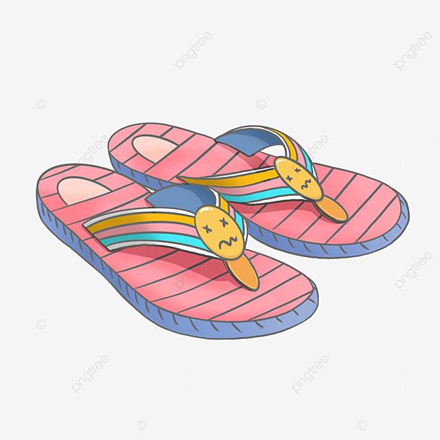 color striped flip flops clipart