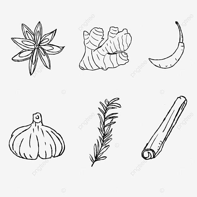 cooking spice cut drawing