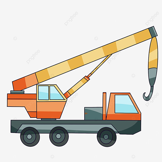 crane heading to the construction site clipart