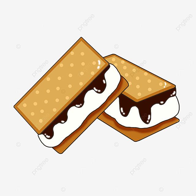 creamy graham cookies clip art