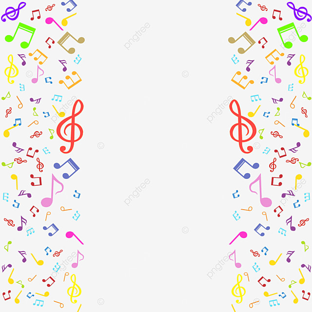 creative colorful music note border