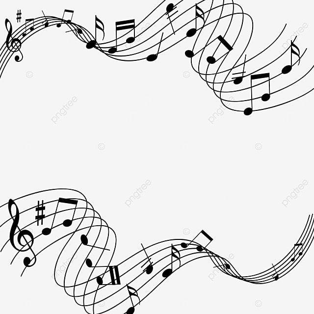 creative cross music note border