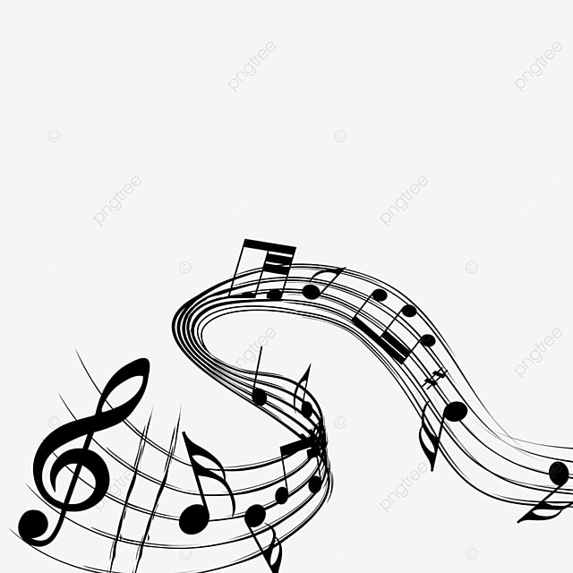 creative curved music note border