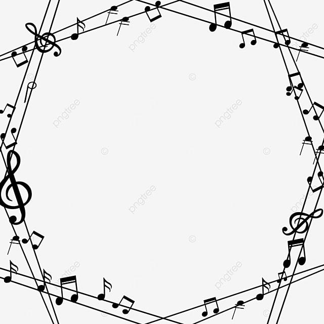 creative line music note border