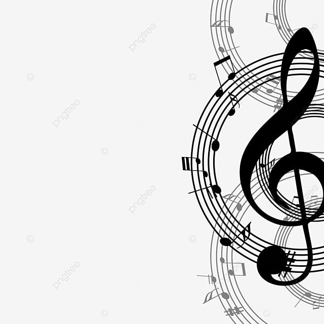 creative music black note border