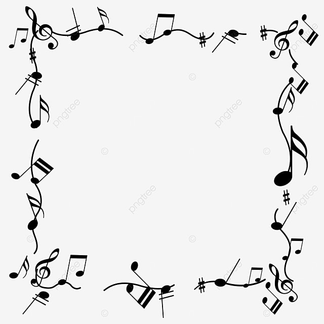 creative music black note lace border
