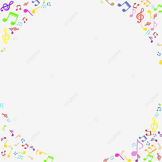 creative music colorful note border